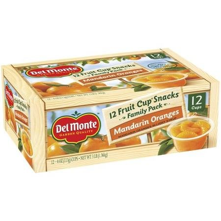 Del Monte Mandarin Oranges Fruit Cup Snacks, 4 Oz, 12 Count (Del Monte Fruit Naturals compare prices)