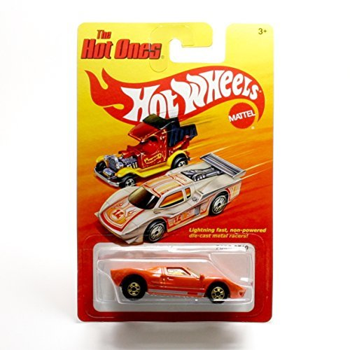 FORD GT40 (ORANGE) * The Hot Ones * 2011 Release of the 80's Classic Series - 1:64 Scale Throw Back HOT WHEELS Die-Cast Vehicle