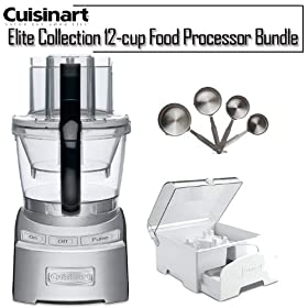 Cuisinart FP-12DC Elite Collection 12-cup Die Cast Food Processor Bundle