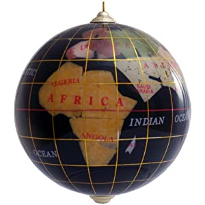 gemstone globe ornament black home