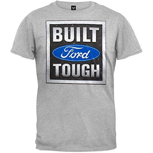 Ford - Mens Built Tough Stamp T-shirt Large Grey (Ford Jersey compare prices)