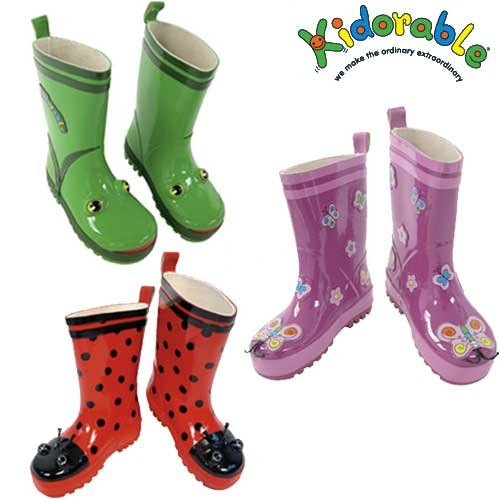 Kidorable Rain Boots for Kids and Toddlers (Size 5T-2K): The Kidorable Rain