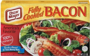 Place bacon in single layer on double layer of paper towels or microwaveable plate. Microwave on high until heated through. 3 slices: 15 to 20 sec.; 6 slices: 20 to 25 sec. Tip: For crispier slices, microwave a few seconds longer. Skillet: Place bacon slices in single layer in unheated skillet.