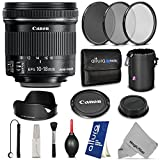 Canon EF-S 10-18mm f/4.5-5.6 IS STM Lens w/ Essential Bundle - Includes: Altura Photo UV-CPL-ND4, Dedicated Lens Hood, Neoprene Lens Pouch, Camera Cleaning Set