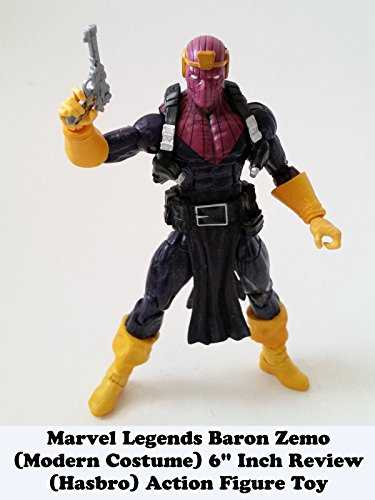 "Marvel Legends BARON ZEMO (modern costume) 6"" inch Review (Hasbro) action figure toy"