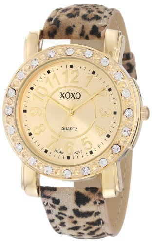 Galleon xoxo women 39 s xo3367 leopard patterned strap watch for Watches xoxo