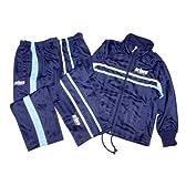 [Prince]テニスブランドプリンス2パンツジャージ上下セット★50%OFF(ネイビー-ブルー-(紺x青)◇110)