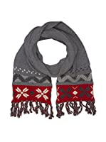 Hackett London Bufanda Lana Snow Flake Knit Ii Scf (Gris)