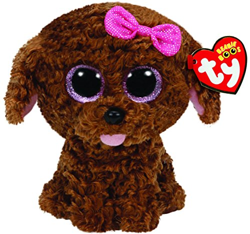 Ty Beanie Boos Maddie The Brown Dog with Bow Plush - 1