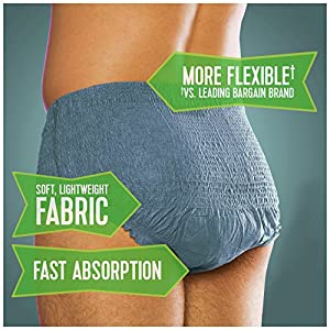 Depend Fit-Flex Incontinence Underwear for Men, Maximum Absorbency, S/M (42 Count) from Depend