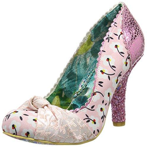 Irregular Choice Smartie Pants - Scarpe con Tacco donna, colore rosa (pink floral), taglia 38 EU (5 UK)