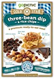 GoPicnic Gold Star Premium Ready-To-Eat Meals Three Bean Dip & Rice Chips (Pack of 6)