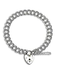 TheCharmWorks Sterling Silver Heavy Double Curb Charm Bracelet 8