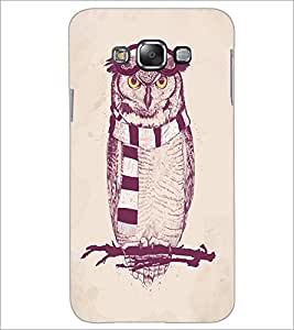 PrintDhaba Owl D-1246 Back Case Cover for SAMSUNG GALAXY A8 (Multi-Coloured)