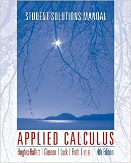 Applied Calculus, Student Solutions Manual: Deborah Hughes-Hallett ...