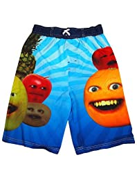 Annoying Orange - Big Boys Annoying Orange Swimsuit, Blue, Multi 34458-14/16