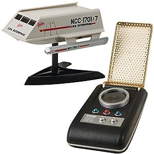(Set) Star Trek Mini Light Up Shuttlecraft And Light And Sound Communicator
