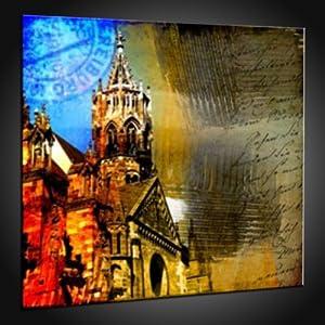 Kunstdruck Preiswerte Drucke von Freiburg in 130x130 cm