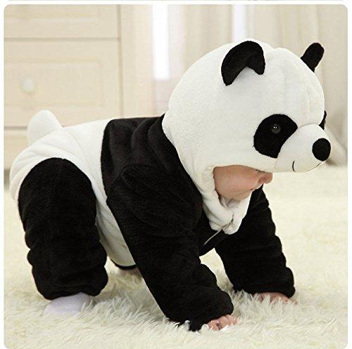 Infant Baby Boys Girls Winter Flannel Panda Bunting Outfits Snowsuit Romper Outwear Coat 18-24 Months Panda