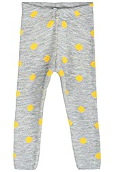 Chalk by Pantaloons Girl's Regular Fit Legging (205000005614193, Grey, 2-3 Years)