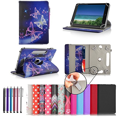 Casezilla Sanei N78 7 Inch Tablet 360 Degrees Universal PU Leather Tablet Case - Purple from Electronic-Readers.com