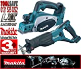 Makita BKP180Z 18V Li-Ion 82mm Cordless Planer Plus BJR181Z 18V LXT Li-Ion Reciprocating Saw (Body Only)
