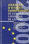 Annales d'�tudes europeennes de l'Uni...