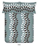 Bombay Dyeing Cardinal Cotton Double One bedsheet and Two Pillow cover Grey