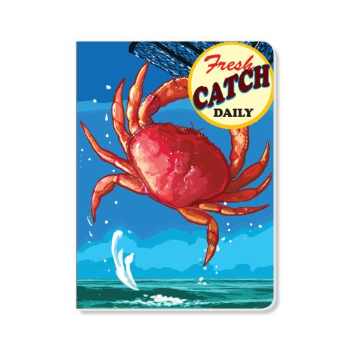 ECOeverywhere Fresh Catch Crab Sketchbook, 160 Pages, 5.625 x 7.625 Inches (sk11682)