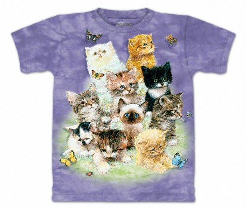 The Mountain Classic 10 Kittens Adult Purple T-shirt XL
