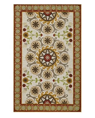Momeni Suzani Hook Collection Rug, Red, 8' x 10'