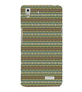 Diamond Pattern 3D Hard Polycarbonate Designer Back Case Cover for Oppo R7 :: Oppo R7 Lite