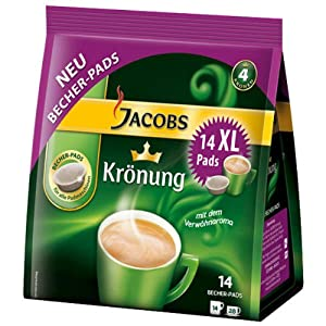 Shop for Jacobs Krönung Coffee Pods, 14 XL Pods by Kraft Foods