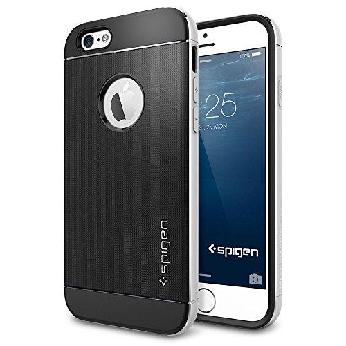 iPhone 6 ケース, Spigen® [ リアル アルミニウム バンパー] ネオ・ハイブリッド メタル iPhone 4.7 (2014)  The New iPhone アイフォン6 (国内正規品) (サテン・シルバー SGP11037)