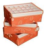 #3: Stvin Non-Woven Fabric Folding Case Storage Box For Bra Socks 31.5*22.5*10.5CM -20 Grid Bag