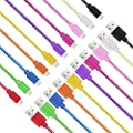 Micro USB Cable,Pvendor 10 Pack 10 Colors High Speed Extra Long 6Ft 2 Meter Nylon Braided Tangle-Free Micro USB Charging & Sync Data Cable Charger Cord for Samsung Galaxy S6 Edge S4 S3 S2 Note 2/4 Mega/Tab, HTC One X M8, Nexus 4/7/9/10, LG G3 G4, Moto G X
