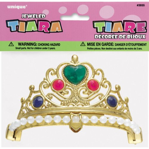 Unique Industries Plastic Jeweled Tiara - 1