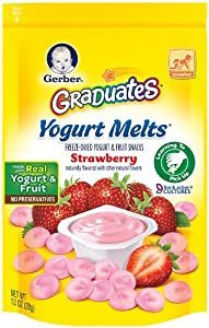 (历史最低)Gerber Graduates Yogurt Melts嘉宝宝宝食物溶豆草莓味7包ss后$16.51