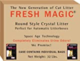 Fresh Magic Crystal Litter ROUND 32 Lb case - Designed for AUTOMATIC LITTERBOX