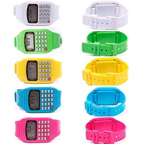 Smart Applied Unisex Man Multi-Purpose Children Date Electronic Calculator Wrist Watch 02