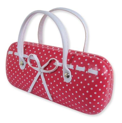 Small Dots  Bow Eyeglass Case Handbag Pink (AS12TG