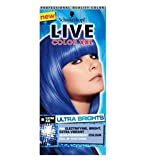 The no commitment, semi-permanent formula is extremely versatile from full head colour;to dip dye or just a top up or you colour, this blue shade is for you.We recommend LIVE Color XXL HD Ultra Brights Electric Blue 95 for:• Bleached, Lighten...