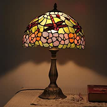 Gweat tiffany 12 inch european dragonfly table lamp for 12 inch table lamp