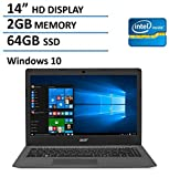 2016 Newest Acer Aspire One Cloudbook 14-inch Laptop, Intel Dual-Core Processor, 2GB RAM, 64GB SSD, Office 365 Personal 1-year subscription, 1TB OneDrive Cloud Storage, Bluetooth, HDMI, Windows 10