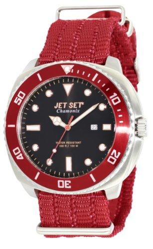 Jet Set J27703-268 - Reloj analógico de cuarzo para hombre, correa de sintético color rojo