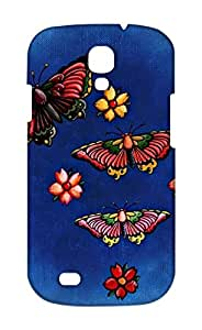 Samsung Galaxy S4 Floral Print Design Mobile Case Hard Back Cover for girls - Printed Designer Cover - SGS4FLRLB119