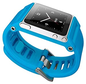 LunaTik TikTok Watch Wrist Strap for iPod Nano 6G - Cyan