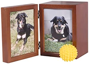 Classic Products Keepsake Pet Memorial Display, Medium Folding 6″ x 8″, Honey Maple