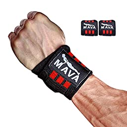 Heavy Duty Wrist Wraps for Wrist Support for Men & Women - for Weightlifting & Gym Workout