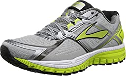Brooks Men\'s Ghost 8 Metallic Charcoal/Lime Punch/Silver Sneaker 11 D (M)